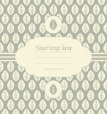 Decorative invitation on stylish background Royalty Free Stock Images
