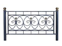 Decorative iron barrier, fence. Royalty Free Stock Photography