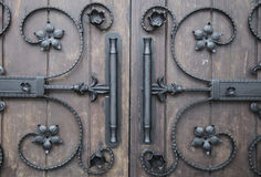 Decorative iron details in gothic style Stock Photography