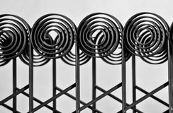Decorative iron fence Royalty Free Stock Photography