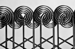 Decorative iron fence. Pattern over the white background(Palas-Iasi-Romania Royalty Free Stock Photography