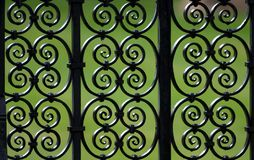 Decorative iron fence pattern Royalty Free Stock Photos