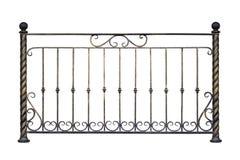 Decorative iron railing, fence. Stock Photos