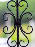 Decorative iron. Window with decorative iron style Stock Photo