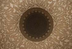 Decorative islamic dome ceiling Stock Photography