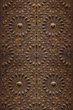 Decorative Islamic Wood Art Door Stock Images