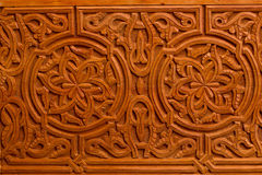 Decorative Islamic Wood Art Door stock photos