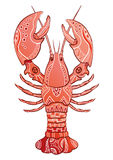 Decorative isolated lobster Stock Photos
