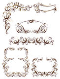 Decorative items. Set of decorative elements, vector illustration Royalty Free Stock Image