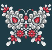 Decorative jewelry brilliant butterfly Royalty Free Stock Photos