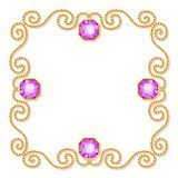 Decorative jewelry frame Stock Images