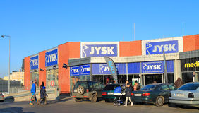 Decorative Jysk supermarket in Elblag, Poland Stock Photo