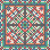 Decorative knit tile Stock Image