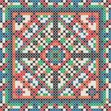 Decorative knit tile. Seamless pattern Stock Image