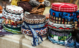 Decorative knitted ribbons Royalty Free Stock Photography