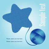 Decorative knitting. With blue star Stock Photography