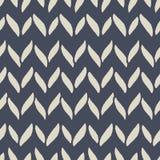 Decorative knitting braids seamless pattern. Stock Images