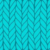 Decorative knitting braids seamless pattern. Stock Image