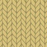 Decorative knitting braids seamless pattern. Stock Photos