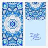 Decorative label card for vintage design, ethnic pattern, antiqu Stock Images