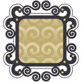 Decorative Vector Label in Scroll Style Stock Photography