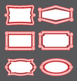 Decorative Label Templates Royalty Free Stock Photo