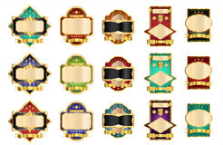 Decorative Labels. On white background Royalty Free Stock Photography