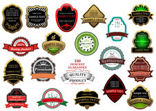 Decorative labels and banners set Stock Images