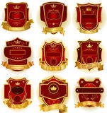 Decorative labels collection Stock Image