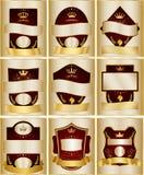 Decorative labels collection set Stock Images