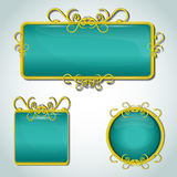 Decorative labels Royalty Free Stock Photos