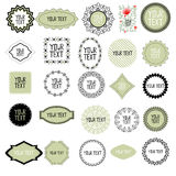 Decorative labels set Royalty Free Stock Image