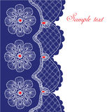 Decorative lace border Royalty Free Stock Photo