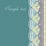 Decorative lace border Royalty Free Stock Photos