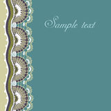 Decorative lace border Royalty Free Stock Images