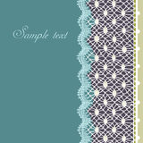 Decorative lace border Stock Photography