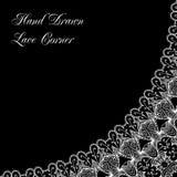Decorative lace corner Royalty Free Stock Photography