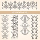 Decorative lace floral borders. Royalty Free Stock Photography