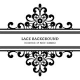 Decorative lace frame Royalty Free Stock Photography