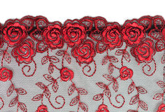 Decorative lace with pattern. On white background Stock Photography