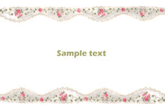 Decorative lace with pattern Royalty Free Stock Photography