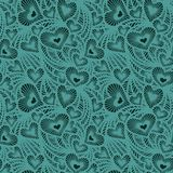 Decorative lace pattern with hearts Stock Image