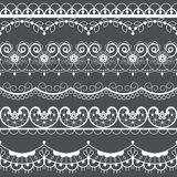 Retro lace seamless pattern set, white decoration, ornamental repetitive design with flowers - textile design royalty free illustration