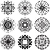 Decorative lace round flowers. Ornament Royalty Free Stock Photography
