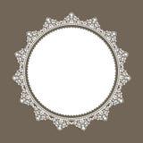Decorative lace style border Stock Image