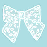 Decorative lacy bow Stock Photography