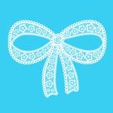 Decorative lacy bow Stock Photos