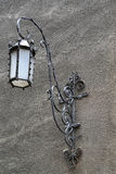 Decorative lamp on a building wall in Gdansk, Poland Royalty Free Stock Photo