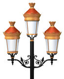 Decorative lamp post Royalty Free Stock Images