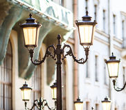 Decorative lamp posts Royalty Free Stock Photo